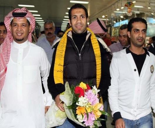وصول المحترف المصري حسني عبدربه لاتحاد جدة